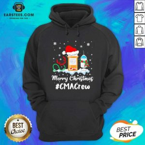 Nurse Santa Vaccine Merry Christmas #Cma Crew Hoodie - Design By Earstees.com