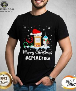 Nurse Santa Vaccine Merry Christmas #Cma Crew Shirt - Design By Earstees.com