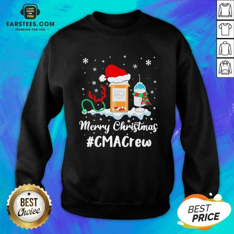Nurse Santa Vaccine Merry Christmas #Cma Crew Sweatshirt - Design By Earstees.com