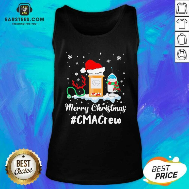 Nurse Santa Vaccine Merry Christmas #Cma Crew Tank Top - Design By Earstees.com