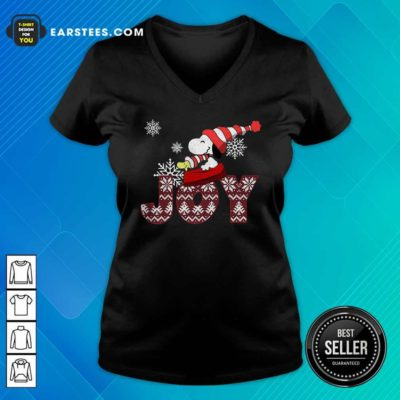 Snoopy Joy Merry Christmas V-neck - Design By Earstees.com