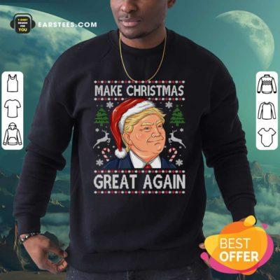 Trump Make Christmas Great Again Christmas Sweatshirt - Design By Earstees.com