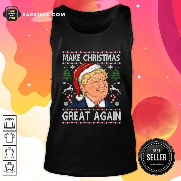 Trump Make Christmas Great Again Christmas Tank Top - Design By Earstees.com