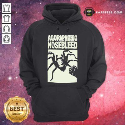 Agoraphobic Nosebleed Spider Hoodie - Design By Earstees.com