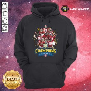 Alabama Crimson Tide Champions A Step Ahead 2020 Hoodie - Design By Earstees.com