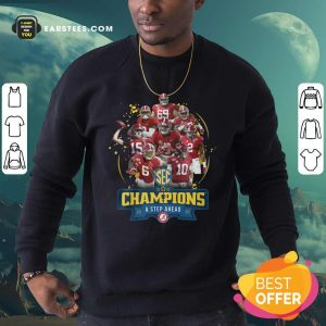Alabama Crimson Tide Champions A Step Ahead 2020 Sweatshirt - Design By Earstees.com