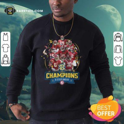 Alabama Crimson Tide Champions A Step Ahead 2020 Sweatshirt - Design By Earstees.com