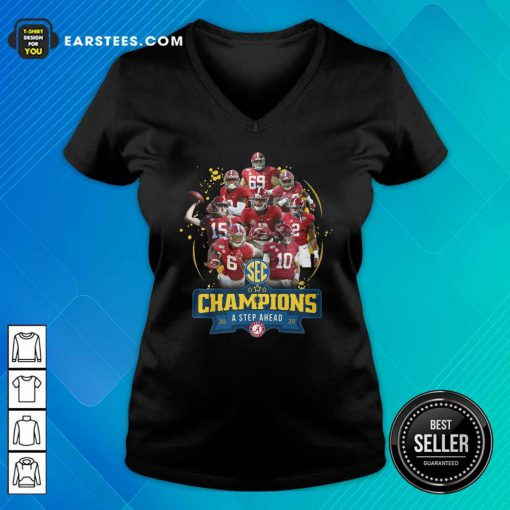 Alabama Crimson Tide Champions A Step Ahead 2020 V-neck - Design By Earstees.com