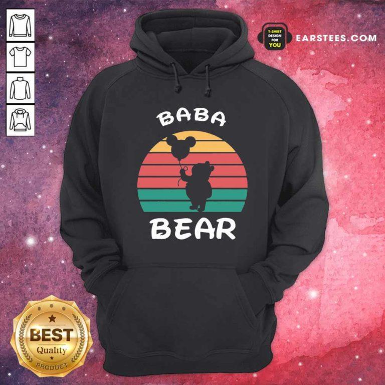 Baba Bear Disney Vintage Retro Hoodie - Design By Earstees.com