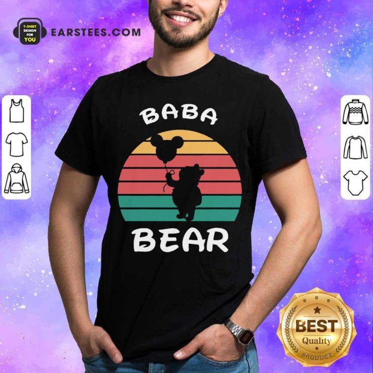 Baba Bear Disney Vintage Retro Shirt - Design By Earstees.com