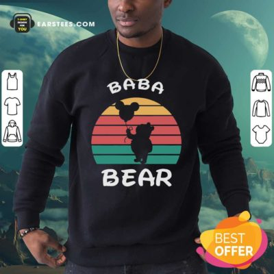 Baba Bear Disney Vintage Retro Sweatshirt - Design By Earstees.com