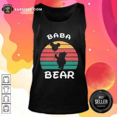 Baba Bear Disney Vintage Retro Tank Top - Design By Earstees.com