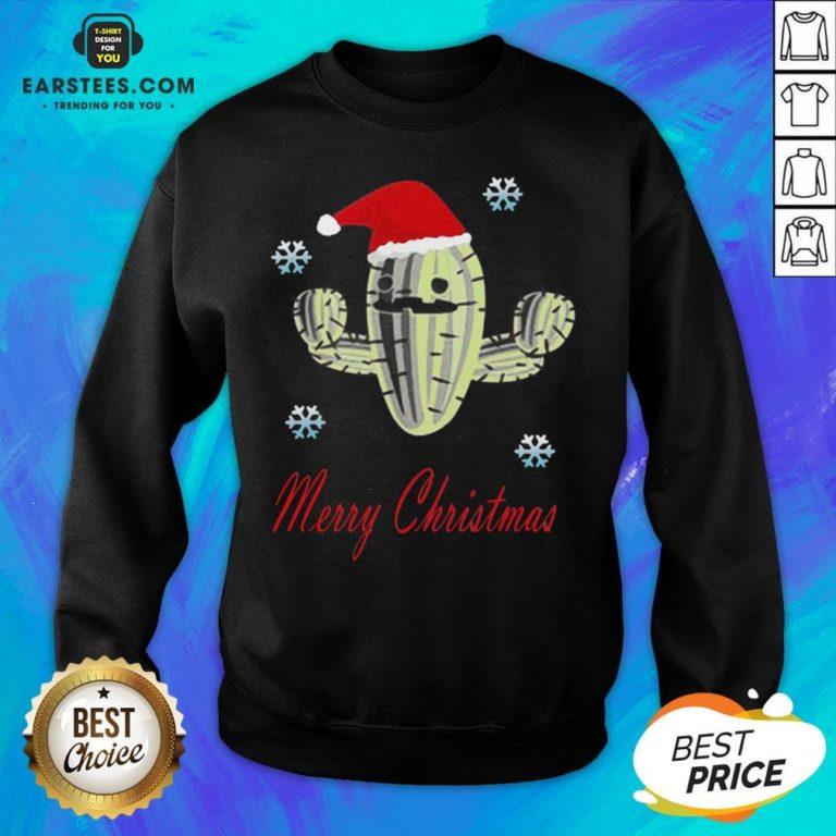 Perfect Cactus Santa Merry Christmas Succulent Plants Sweatshirt - Design By Earstees.com