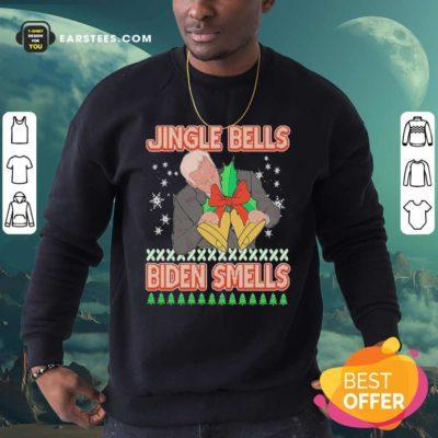 Jingle Bells Biden Smells Ugly Christmas 2020 Sweatshirt - Design By Earstees.com