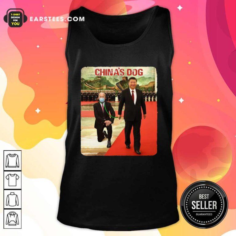Joe Biden China's Dog Tank Top - Design By Earstees.com