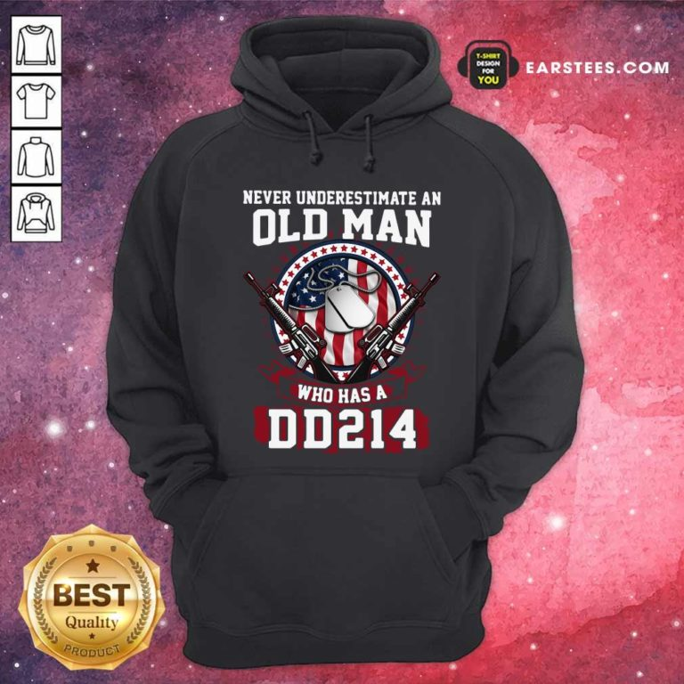 Never Underestimate Old Man Who Has A DD214 Hoodie - Design By Earstees.com