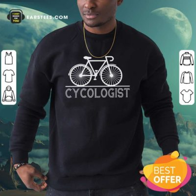 The Bicycle Cycologist Sweatshirt - Design By Earstees.com