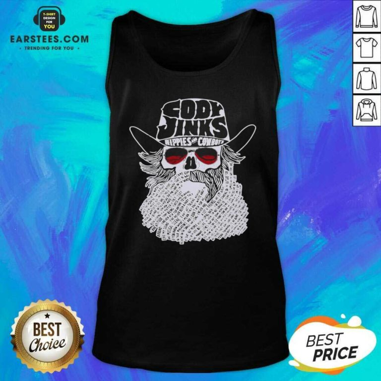 Premium Cody Jinks Hippies And Cowboys Tank Top- Design By Earstees.com