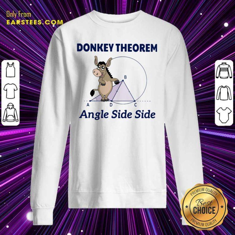 Donkey Theorem Angle Side Side Sweatshirt - Design By Earstees.com