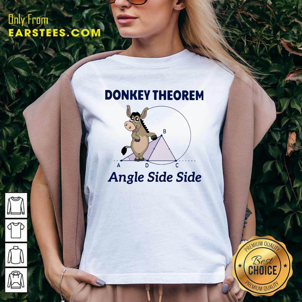 Donkey Theorem Angle Side Side V-neck - Design By Earstees.com