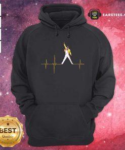 Heartbeat Freddie Mercury Hoodie - Design By Earstees.com