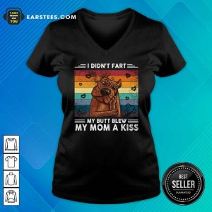 I Didn't Fart My Butt Blew My Mom A Kiss Vintage Retro V-neck - Design By Earstees.com
