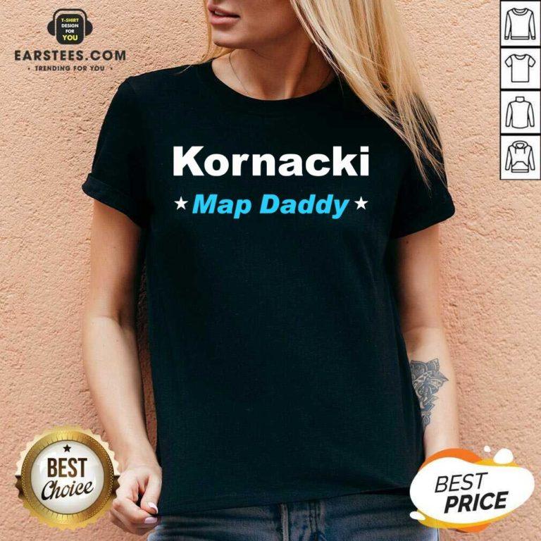 Premium Kornacki Steve Kornacki Map Daddy Kornacki V-neck - Design By Earstees.com