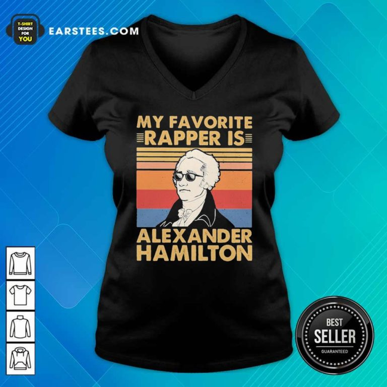 My Favorite Rapper Is Alexander Hamilton Vintage V-neck - Design By Earstees.com