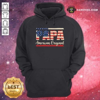 Papa American Original Hoodie - Design By Earstees.com