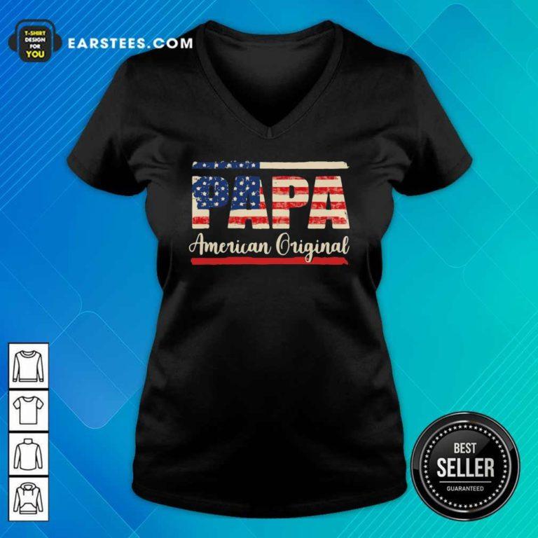 Papa American Original V-neck - Design By Earstees.com