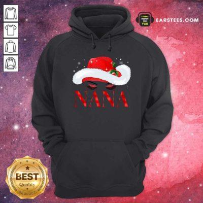 Santa Hat Women Nana Hoodie - Design By Earstees.com