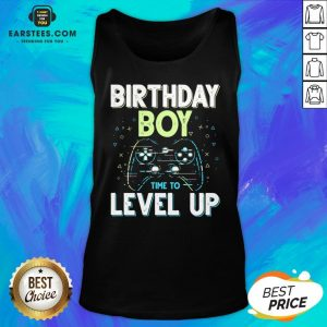Pretty Birthday Boy Time To Level Up Video Game Birthday Boys Tank Top - Design By Earstees.com