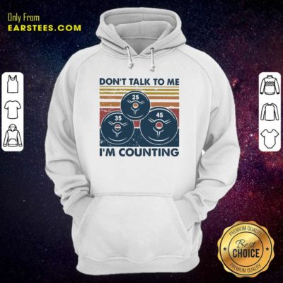 Don't Talk To Me I'm Counting Vintage Hoodie - Design By Earstees.com
