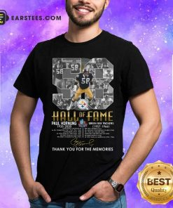 Hall Of Fame 58 Paul Hornung 1935 2020 Thank You For The Memories Signature Shirt - Design By Earstees.com