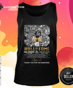 Hall Of Fame 58 Paul Hornung 1935 2020 Thank You For The Memories Signature Tank Top - Design By Earstees.com