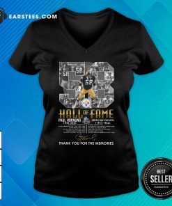 Hall Of Fame 58 Paul Hornung 1935 2020 Thank You For The Memories Signature V-neck - Design By Earstees.com