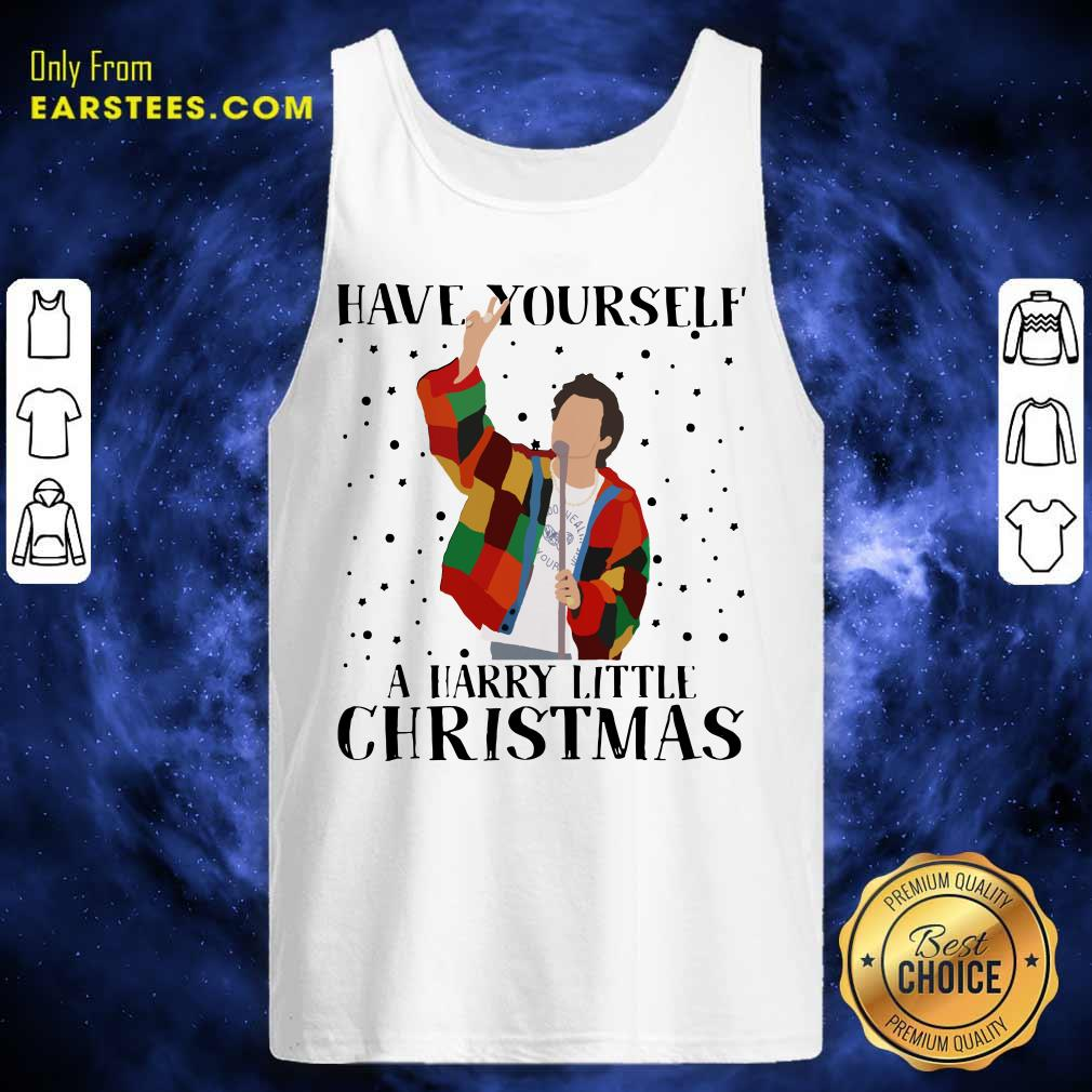 Harry Styles Have Yourself A Harry Little Christmas 2020 Tank Top - Design By Earstees.com