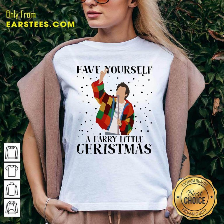 Harry Styles Have Yourself A Harry Little Christmas 2020 V-neck - Design By Earstees.com