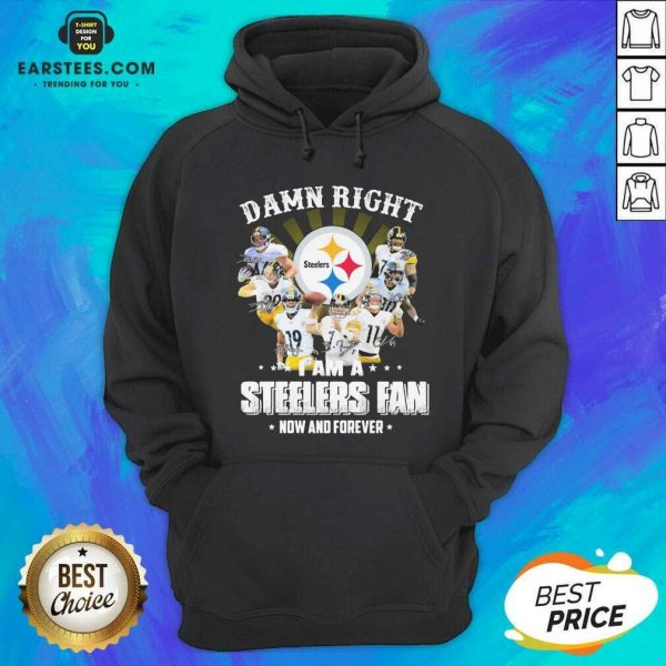 Pretty So Damn Right I Am A Pittsburgh Steelers Fan Now And Forever Signature Hoodie - Design By Earstees.com
