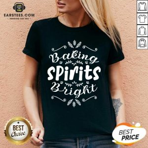 Top Baking Spirits Bright Christmas For Family V-neck- Design By Earstees.com