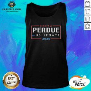 David Perdue For Senator 2020 Senate Georgia Campaign V-neck - Design By Earstees.com