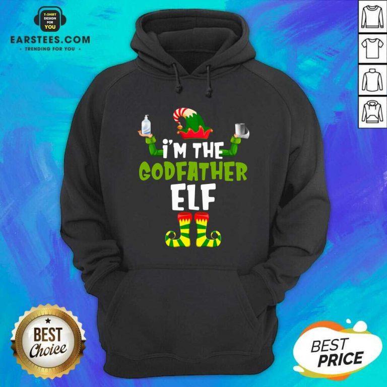 Top Im The Godfather Elf Quarantine Matching Christmas Hoodie - Design By Earstees.com
