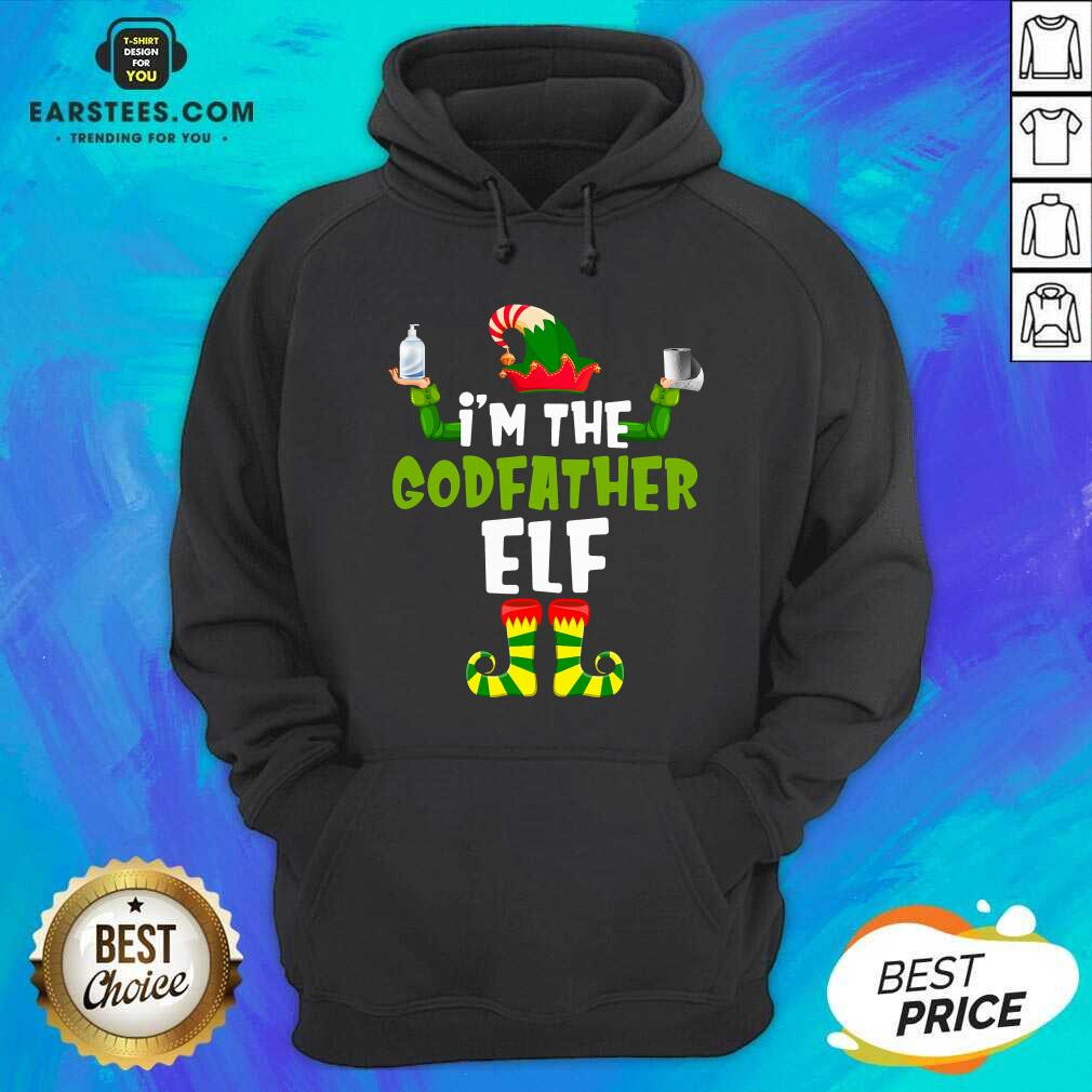 Top Im The Godfather Elf Quarantine Matching Christmas Hoodie - Design By Earstees.com