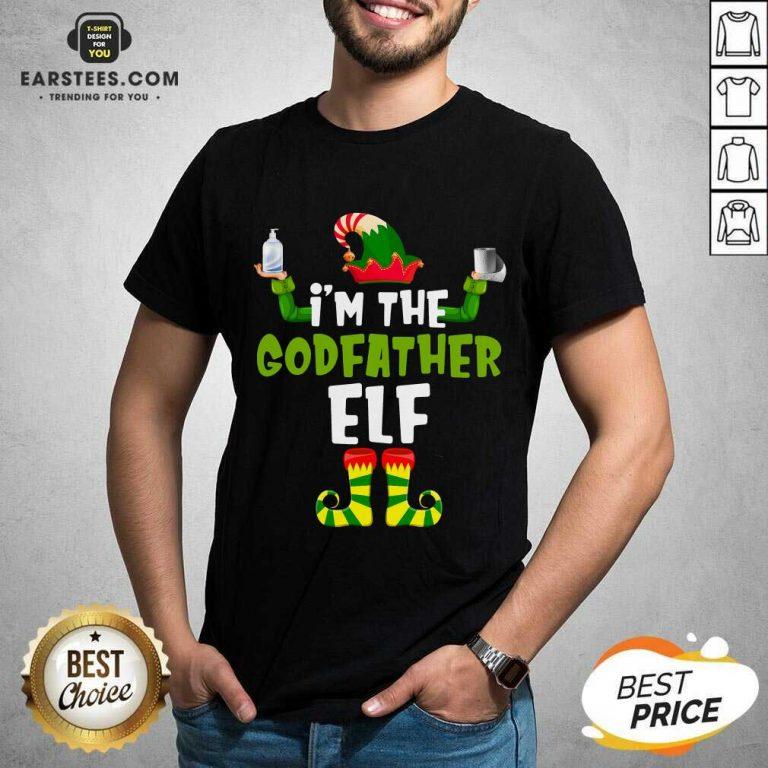 Top Im The Godfather Elf Quarantine Matching Christmas Shirt - Design By Earstees.com