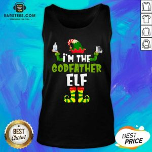 Top Im The Godfather Elf Quarantine Matching Christmas Tank Top - Design By Earstees.com