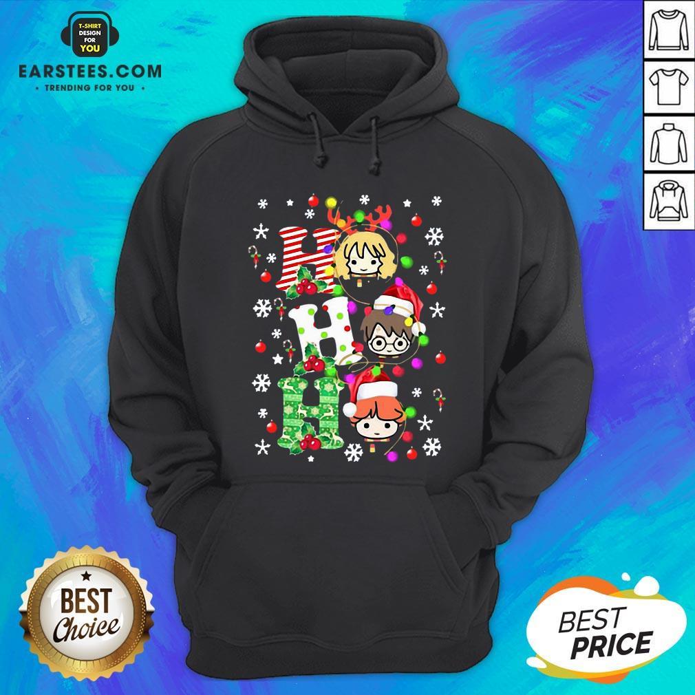 Top Reindeer Santa Claus Snow Ho Ho Ho Merry Christmas Hoodie - Design By Earstees.com