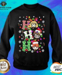 Top Reindeer Santa Claus Snow Ho Ho Ho Merry Christmas Sweatshirt- Design By Earstees.com