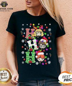 Top Reindeer Santa Claus Snow Ho Ho Ho Merry Christmas Shirt - Design By Earstees.com