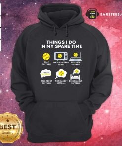Six Things I Do In My Spare Time Softball Christmas Hoodie - Design By Earstees.com