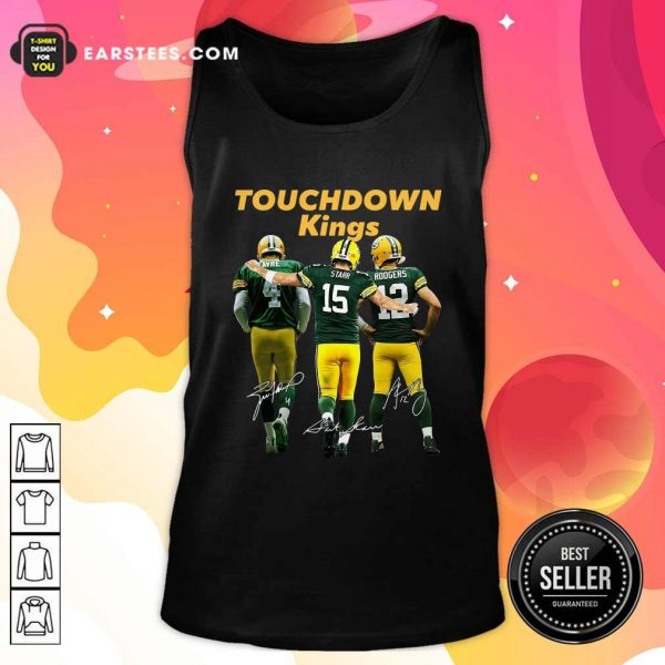 Green Bay Packers Touchdown Kings Brett Favre 4 Bart Starr 15 Aaron Rodgers 12 Signatures Tank Top- Design By Earstees.com